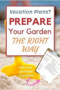 prepare your garden for vacation
