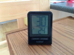 remote temperature display