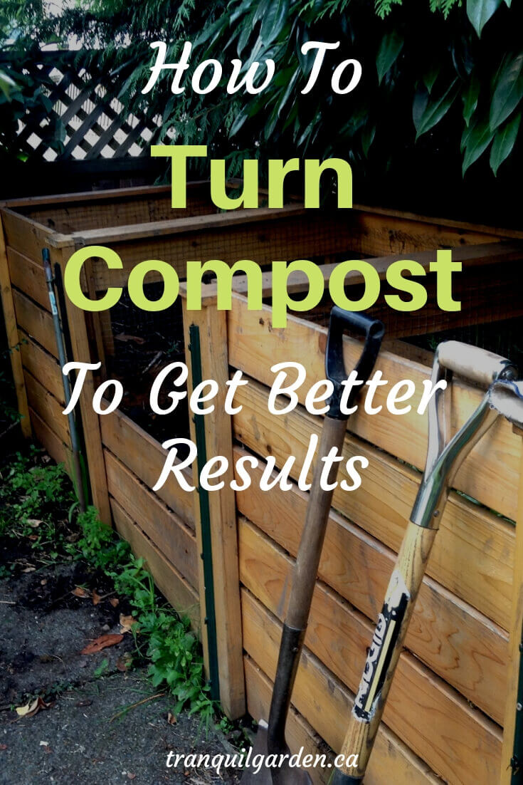 A compost bin is a great way to recycle your used plants and leaves. Taking the time to turn compost will help the process along to give you better results. #compost #turncompost #blackgold