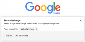 google image search upload an image