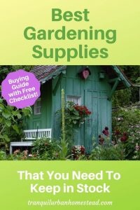 gardening supplies for your garden shed
