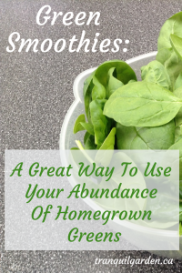 Spinach for green smoothies