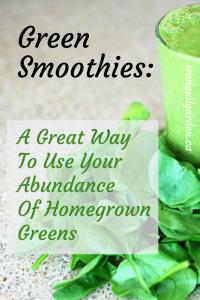 Spinach and Green Smoothies