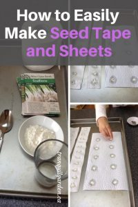 How to Easily Make Seed Tape and Sheets - Get a jump start for spring and have seeds ready to plant already evenly spaced. Create these easy seed tape and sheets when you have time in winter.