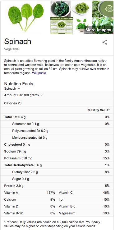 Spinach info