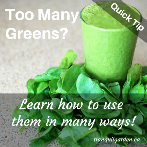 Quick Tip: Using Vegetable Greens From Your Garden