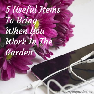 5 Useful Items To Bring When You Work In The Garden