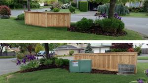 Fence hiding Hydro Box