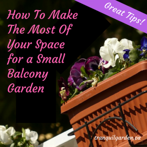 How To Make The Most Of Your Space for a Small Balcony Garden - If you rent an apartment or own a condo you likely only have a balcony, patio, terrace or other small space. These space saving ideas will help you grow vegetables and other plants and have a small seating area so you can enjoy the outdoors.