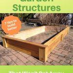 raised cedar garden bed