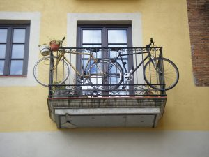 bicycles-on-balcony