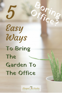 Boring Office? 5 Easy Ways To Bring the Garden To the Office - Do you just dread going to work as it means sitting in an office all day? Do you miss your garden at work? There are some ways to bring the garden to the office and stay sane.