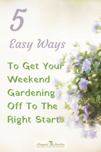 5 Easy Ways To Get Your Weekend Gardening Off To The Right Start - Weekend gardening. Does that bring thoughts of overwhelm and dread? Or are you raring to get out there and start? Let's look at some ways to make it easier.