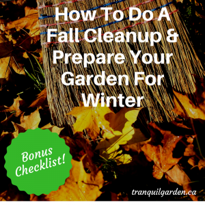 How To Do A Fall Cleanup & Prepare Your Garden For Winter [Bonus Checklist]