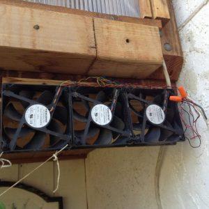 Free Greenhouse Ventilation Via Solar Panel