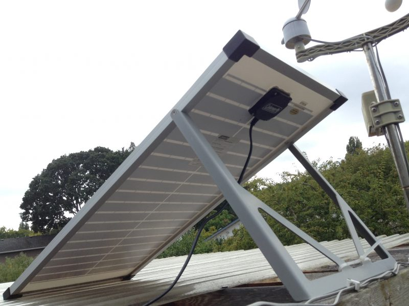 Solar panel on top of pergola