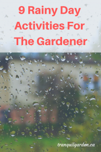 9 Rainy Day Activities For The Gardener - Indoor and Outdoor Garden-related Activities You Can Do On A Rainy Day