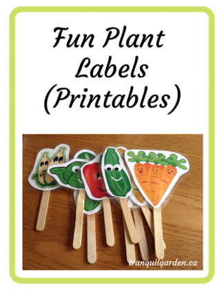 image about Printable Plant Labels known as label Archives Calm Backyard