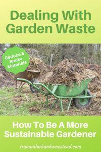wheelbarrows filled with garden debris
