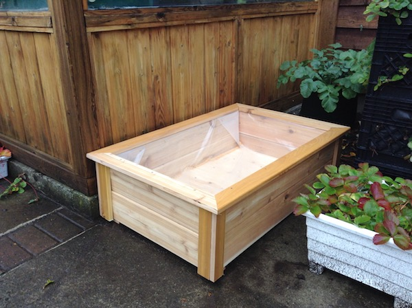 newly constructed planter box