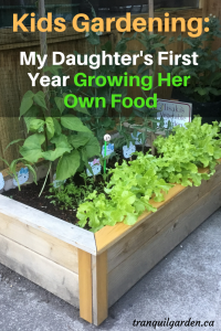 Kids Gardening: My Daughters First Year Growing Her Own Food - Learning to grow her own food this year has been a great experience for my daughter. See what and how she grew her own veggies and get access to resources to do the same for your child(ren).