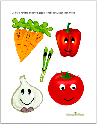 Fun plant labels - Friendly smiling plant labels that children will absolutely love! Add these colourful labels to your children's garden to know where each plant is growing.