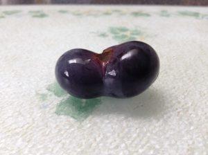 odd shaped grape