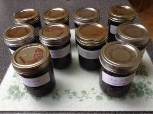 All done, finished grape jelly