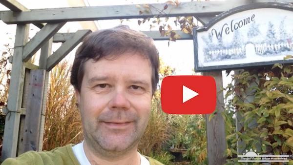 video thumbnail showing Marc at garden entrance