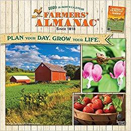 Farmers Almanac 2020 calendar