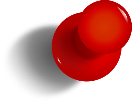 illustration of a red pushpin