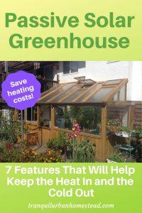 cedar-framed lean-to greenhouse