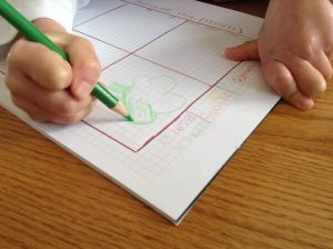 drawing a broccoli on graph paper