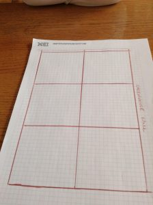 vegetable garden grid with 6 even squares