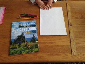 supplies for planning vegetable garden
