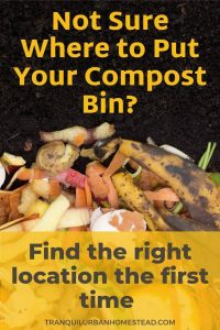Best place to put a compost bin