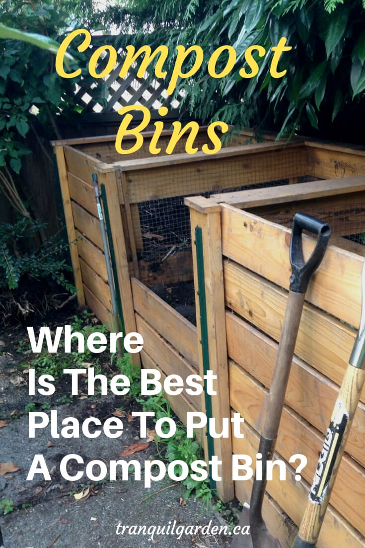 If you're planning on building new compost bins, you're probably wondering where is the best place to put a compost bin? Convenience is a key criteria. #compostbins #location #gardenlayout