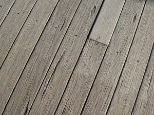 weathered deck surface