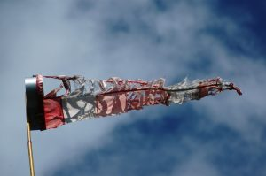 tattered windsock