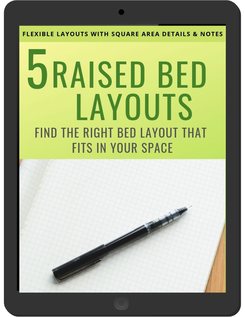 5 Raised Bed Layouts on iPad