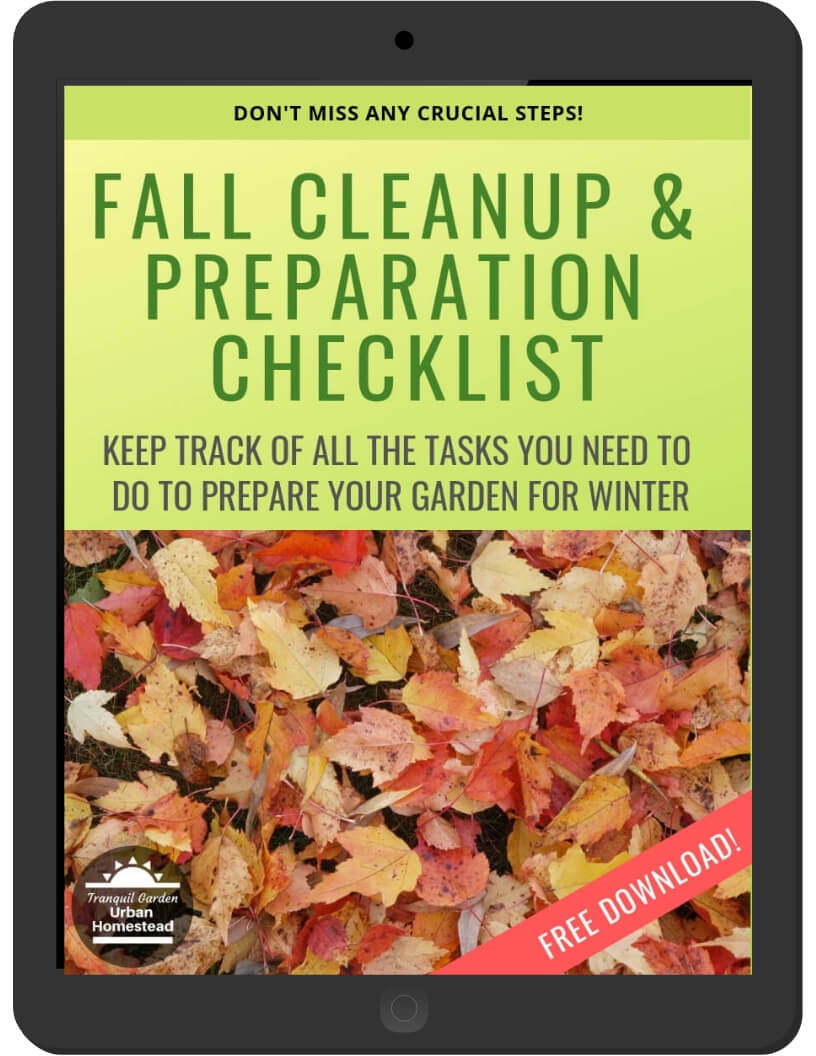 Fall Cleanup & Prep Checklist on iPad