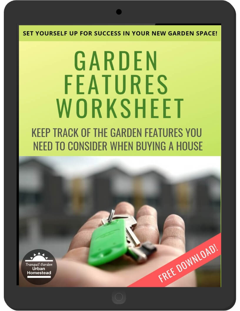 Garden Features Worksheet on iPad