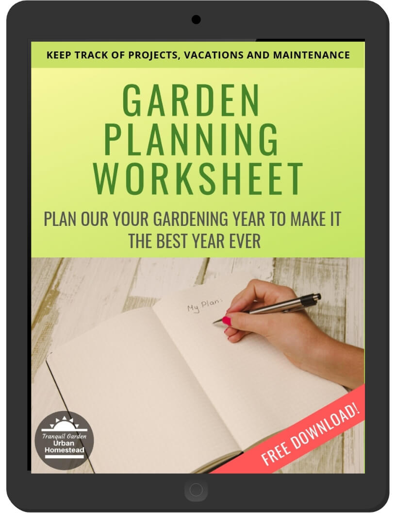 Garden Planning Worksheet on iPad