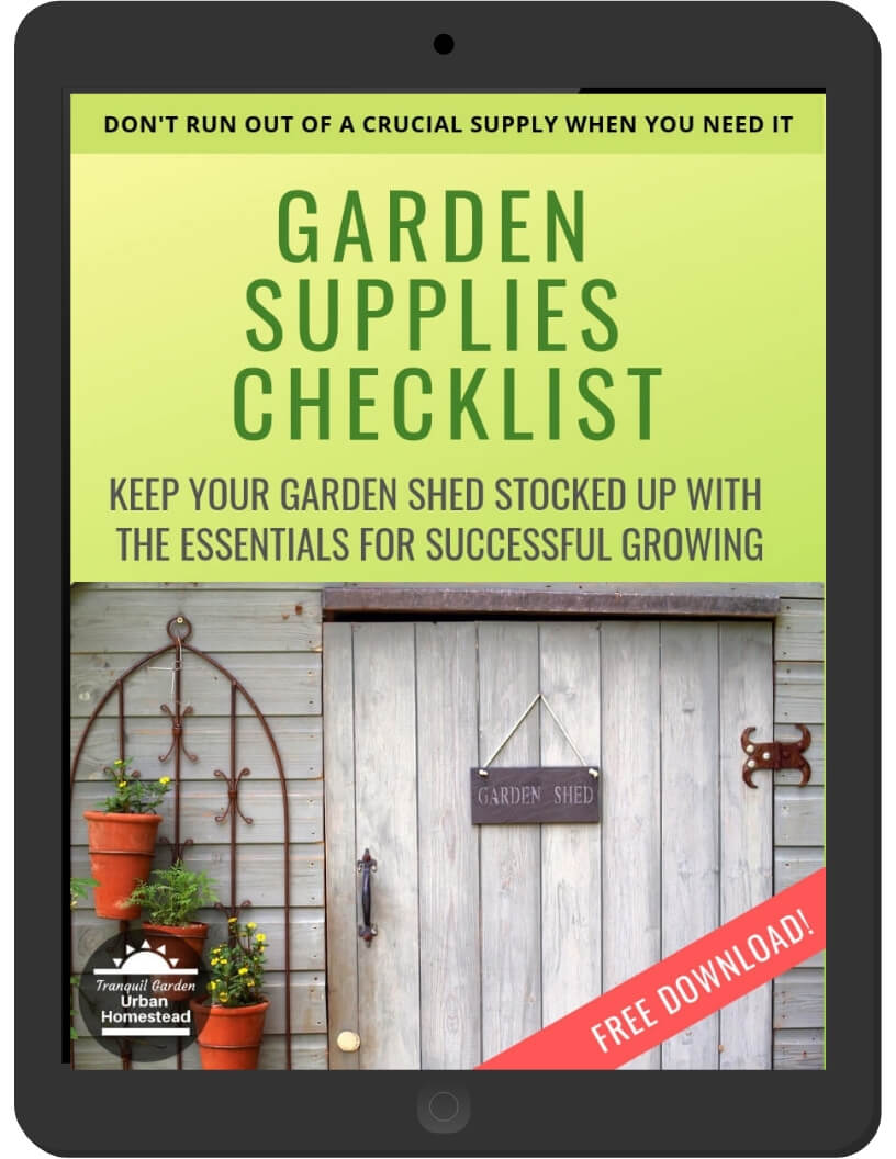 Garden Supplies Checklist on iPad