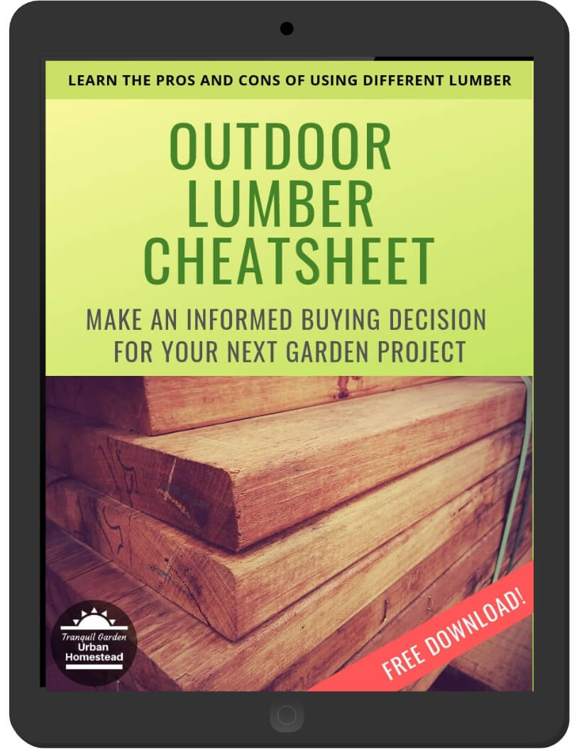Outdoor Lumber Cheatsheet on iPad