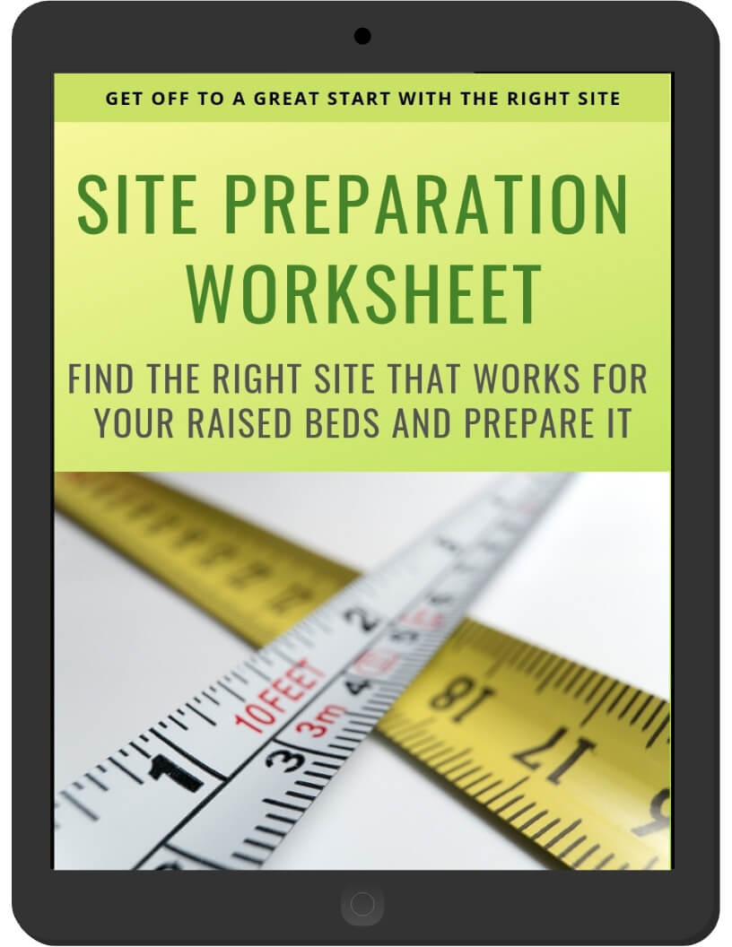 Site Preparation Worksheet on iPad