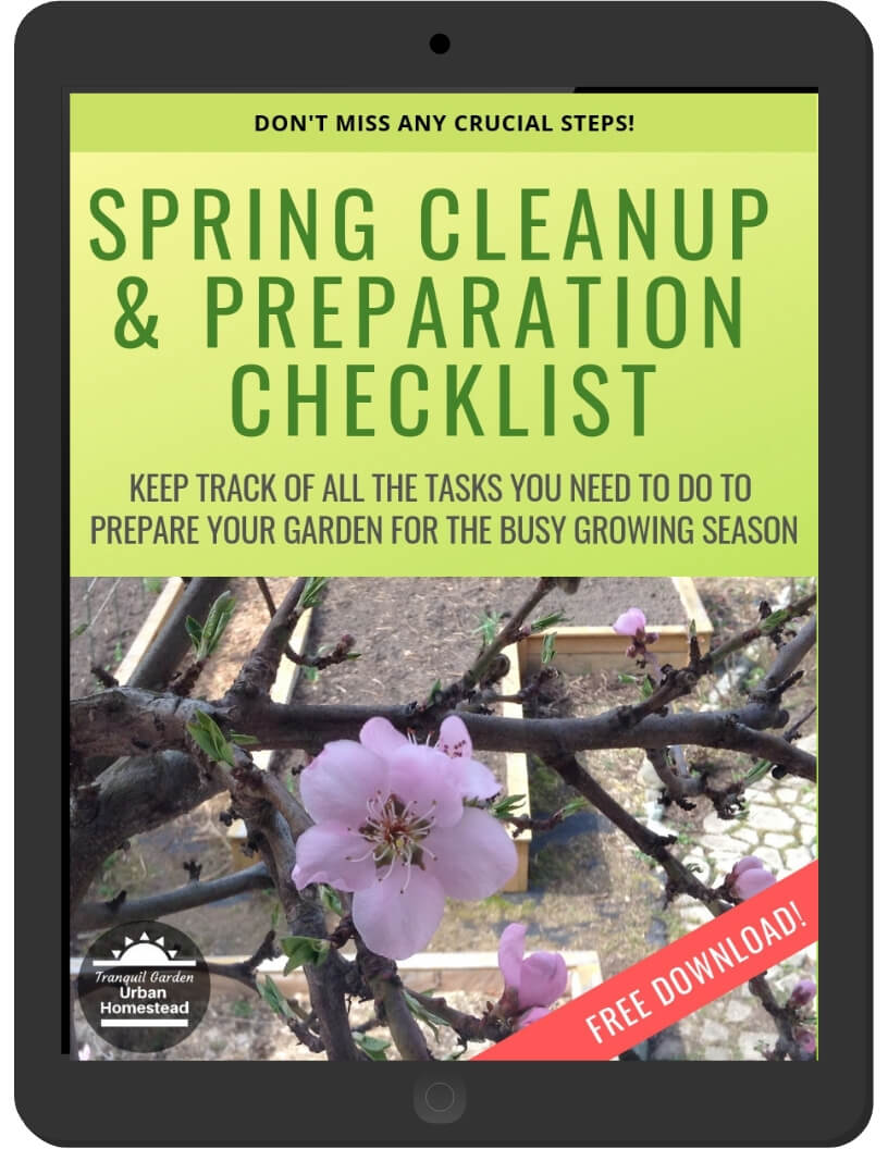 Spring Cleanup & Prep Checklist on iPad