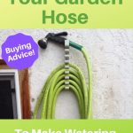 green garden hose on wall