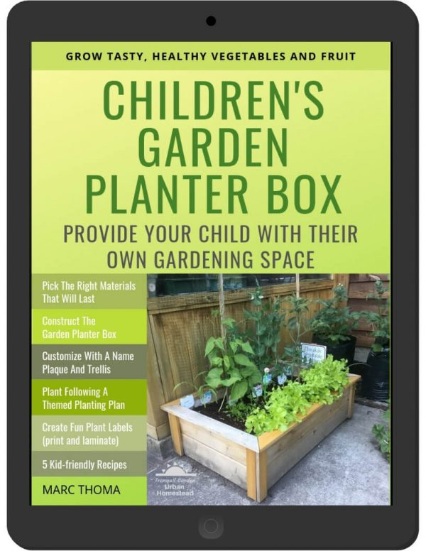 Childrens Garden Planter Box eBook on iPad