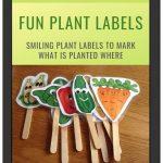 Fun Plant Labels on iPad